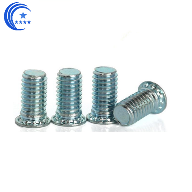 Panel fastener self clinching studs
