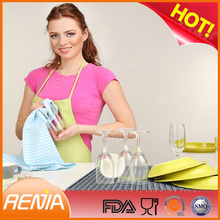 RENJIA dish drying mat uk silicone custom drainer mat silicone roll-up sink racks