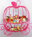 Princess Pumpkin cinderella carriage cup cake stand for child party(CS-U-663)