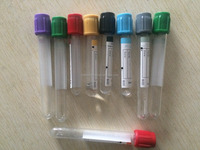 Hospital Used disposable plastic/glass blood test tubes