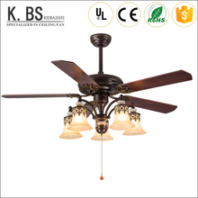 remote control dining light pendant lamp vintage wood blades ceiling fan