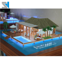 Architectural scale model for hotel layout, Miniature building model