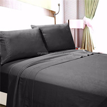 100%polyester microfiber 75d*150d/288f peach bed sheet