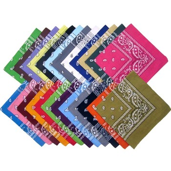 Multifunctional custom cotton pretty square bandanas