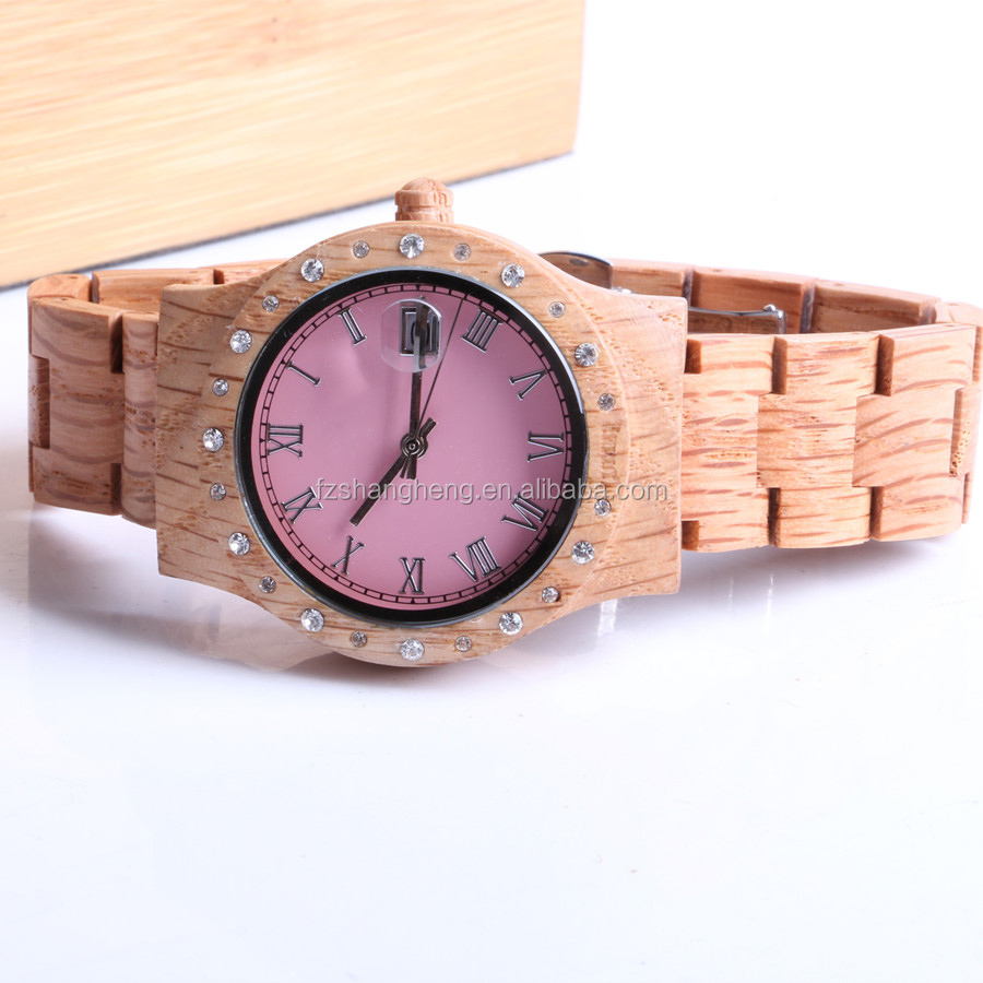 2014 cheap wooden watches ladies new brand bamboo bracelet wood men