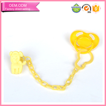 Food Grade Silicone Baby Pacifier Holder Plastic Dummy Clip
