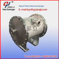 leakproof spiral plate air heat exchanger carbon machines in industry