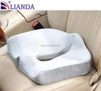 Memory foam herniated discs and sciatica promote seat cushion, comfort driving seat cushion with built-in handle