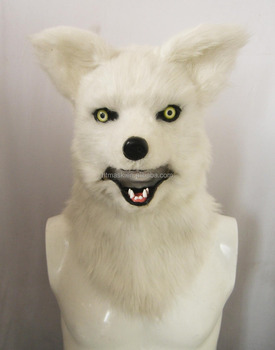 Animal Furry Mask - Mister White Fox