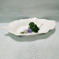 customed color 17 inch melamine leaf plate P7125