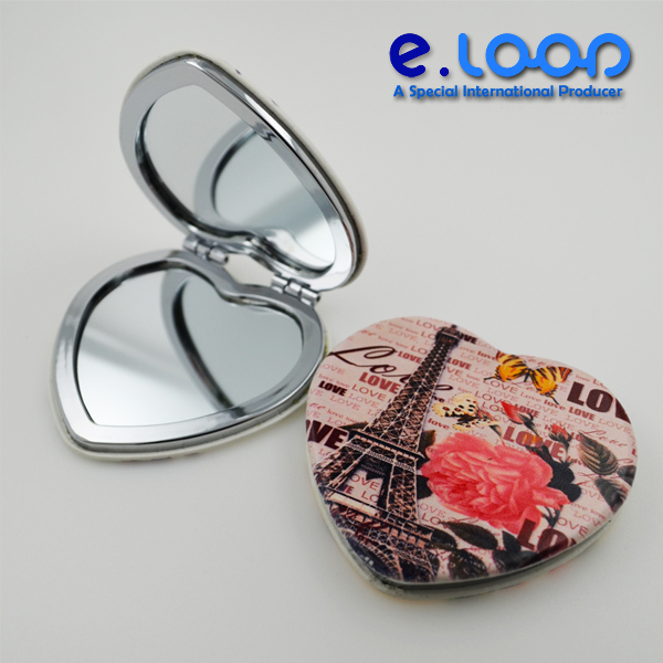 Brand new rose shape handle mirror cosmetic flower with high quality