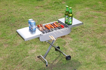 Outdoor charcoal camping bbq smoker