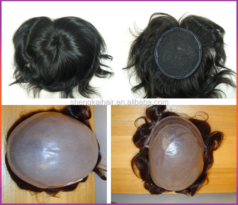 Indian real human hair toupees for black men