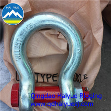 US type bow shackle with safety bolt