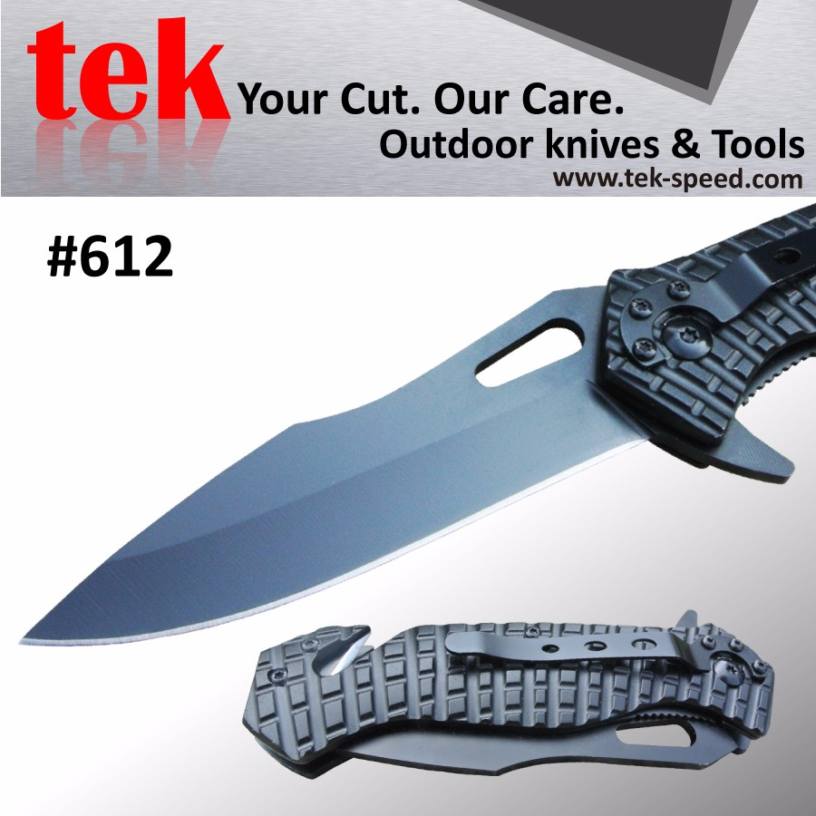 Combo edge military self defense rescue survival folding knife
