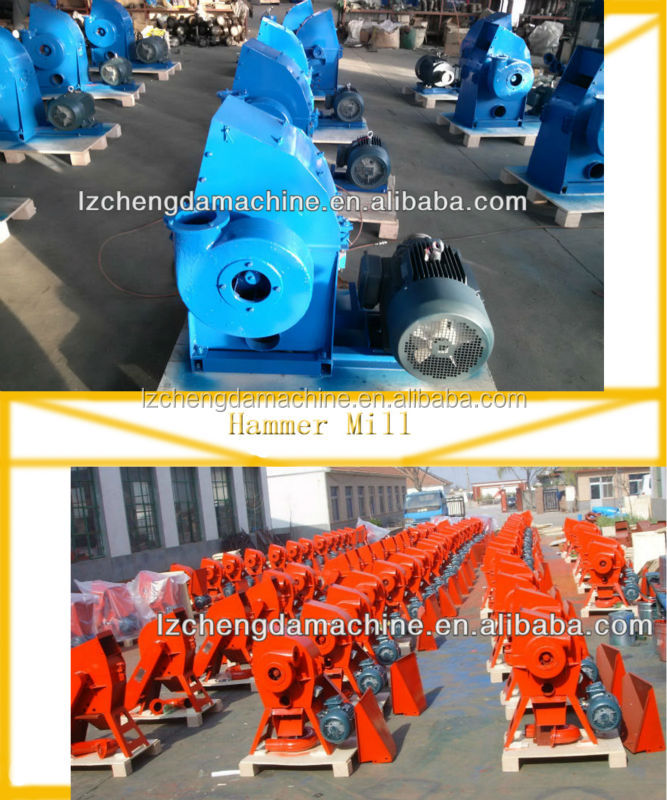 Chengda CF500 Factory supply farm poultry equipment grain soybean barley hammer mill with cyclone