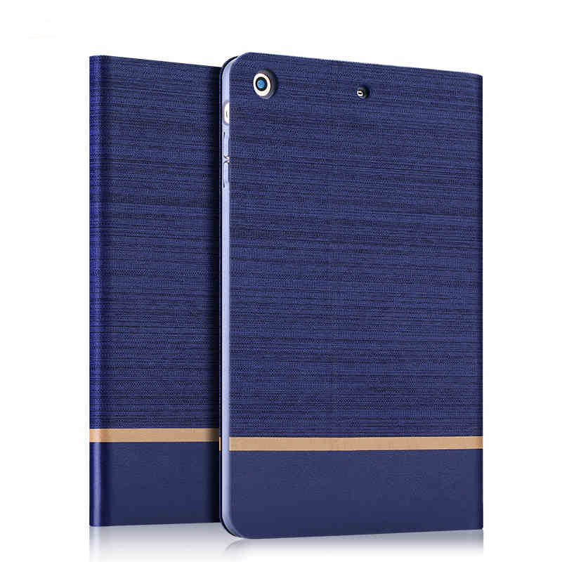 Pro Case Business Ultra thin Jeans Canvas + PU Leather Flip Cover For iPad Pro Shell With Card Holder