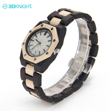 Real white marble index curren fashion wood watch parts men
