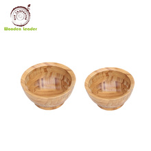 Chinese solid wood food-safe small round hand-finished baby wooden bowl