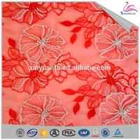China wholesale diaphanous bead sequin fabric