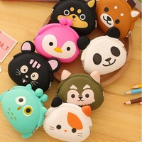 2016 Promotional Gift Items Cheap Fashion Silicone Animals Coin Purse Ladies' Cute Wallet