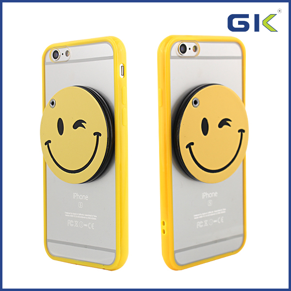 [GGIT] 2016 New Cartoon Smile Face Design Acrylic PC Phone Case For IPhone 6 Back Cover