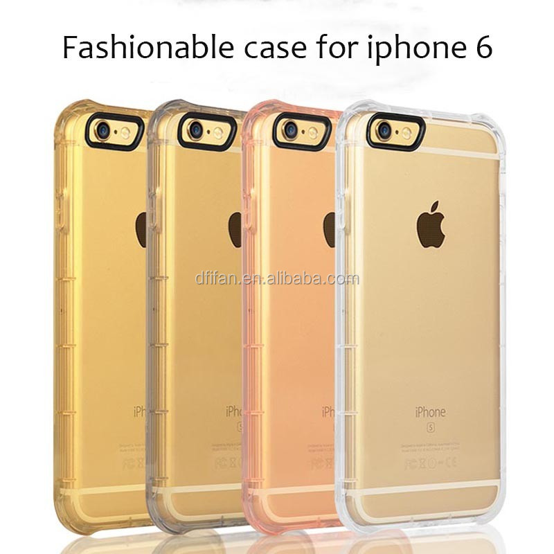 Latest Smartphone Cases Mobile Phone Accessories Anti-fall Soft TPU Cover For iPhone 6/6s Plus