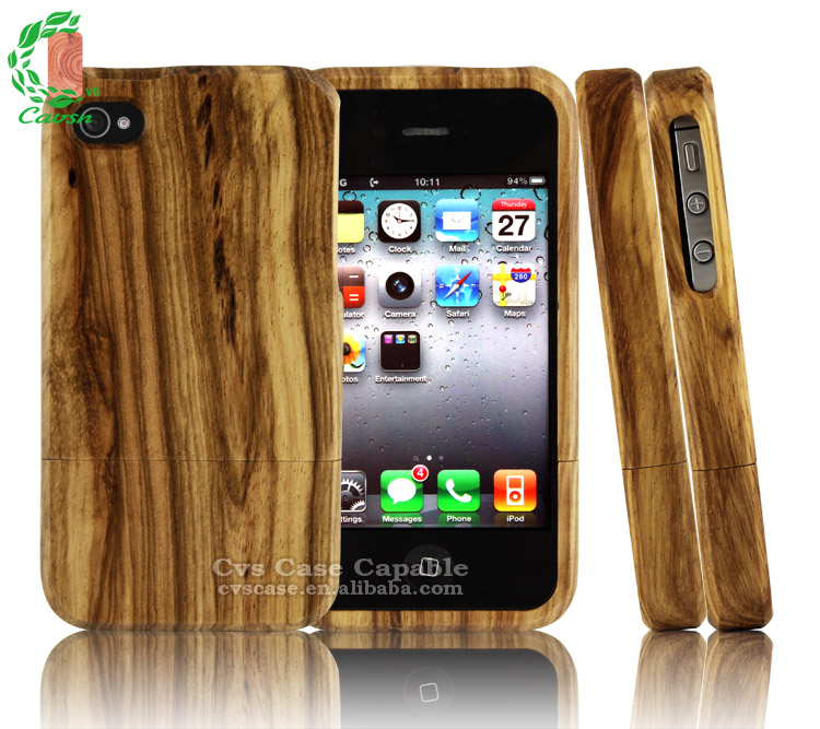 For iPhone 4s Wood Cases for iPhone 4 Wood Mobile Phone Case