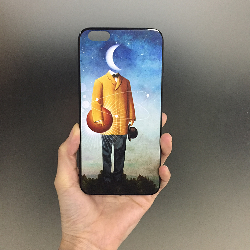 Customized owen illustration art phone case For samsung s5 Ricoh head Factory Direct Wholesale price