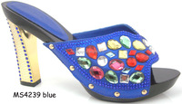 2015 fashion shoes women summer ladies sandal shoes MS4239 Blue Italian shoes and matching bag