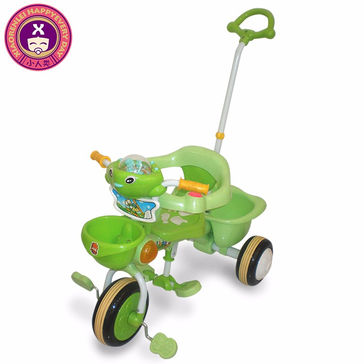 Steel Frame Push Along Childrens Trikes With Parent Handle