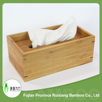 High quality Bamboo material new design Tissue Box