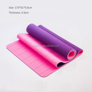 Wholesale Anti Slip TPE Natural Rubber Yoga Mat 173cm