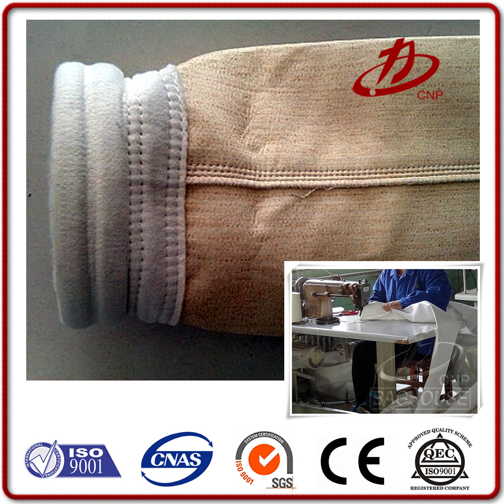 PE Water And Oil Repellent Needle Felt Filter Fabric Dust Filter Bag