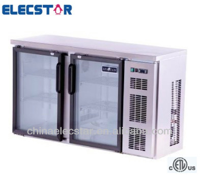 glass swing door stainless steel back bar cooler,US foodservice,underbar refrigeration