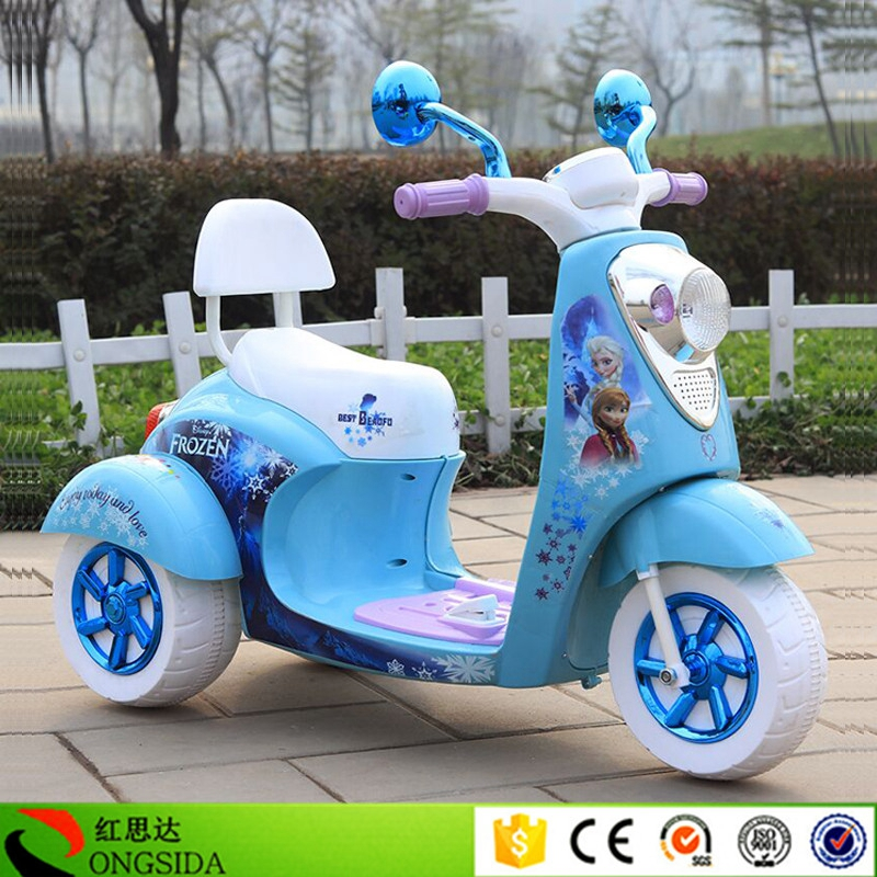 Cheap Price Cartoon Image Kids Electric Toy Tricycle 3 Wheel Electric Baby Motorbike