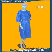 latest design fabric surgical disposable non-woven isolation gown