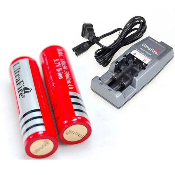 Hot sale ultrafire 18650 rechargeable cree led flashlight batteries