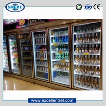 refrigerated drink cooler showcase for commercial use in supermarket&convenience store
