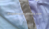 100% polyester stripe microfiber dyed bed sheet fabric textile fabric for hotel