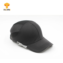 Black industrial safety bump baseball caps