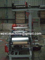 20151013 mini type pe film blowing machine/plastic extruder