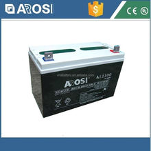 Arosi high quality best price 12v 100ah solar battery lead-acid maintenance-free battery