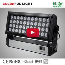High power 44 10W RGBW 4in1 dmx city color change ip65 outdoor led wash light