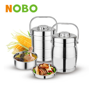 Promotion Nobo brand thermal tiffin hot food carrier portable pot