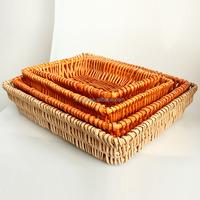 Rattan Bread Baskets / Cheap Wicker Baskets For Supermarket Display