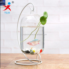 Creative aquarium/vase furnishing articles, contemporary and contracted sitting room hanging hydroponic transparent container/wa