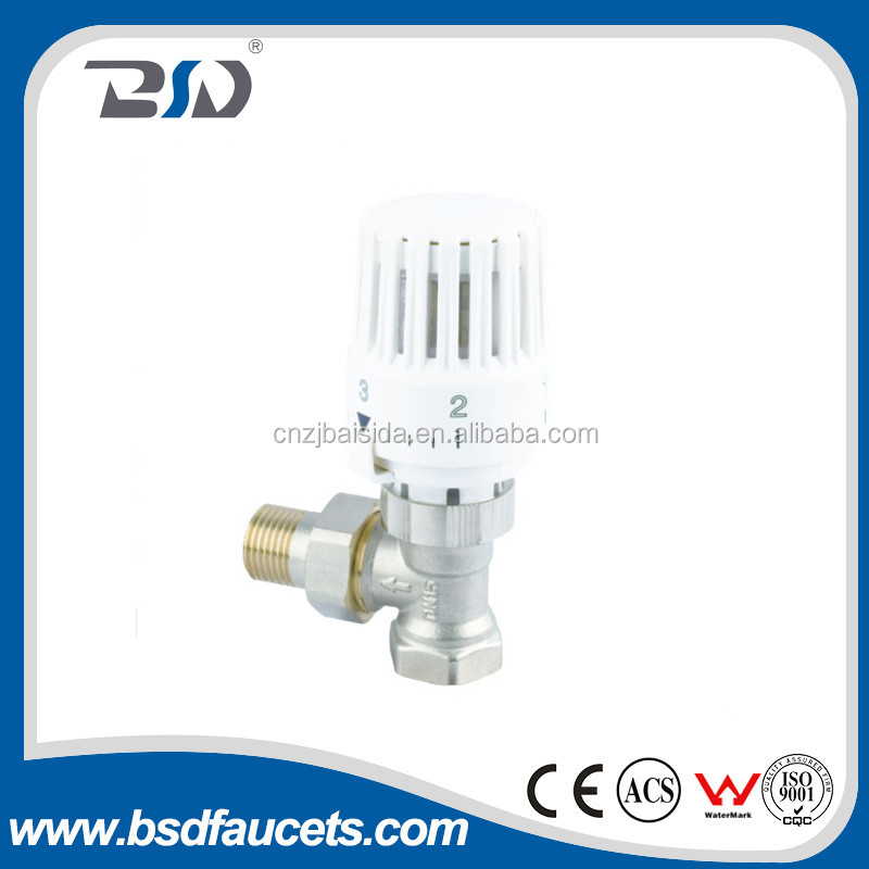 UK hot-selling water brass Auto relief pressure thermostatic radiator valve made in China