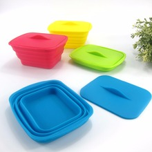 JianMei brand factory wholesale custom high quality rectangular folding box Silicone lunch food box