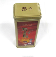 tall metal spice packaging tin box